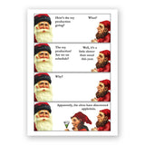 Santa and elves appletini card