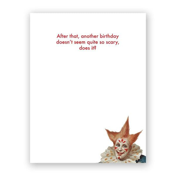 Scary Clowns Birthday Card