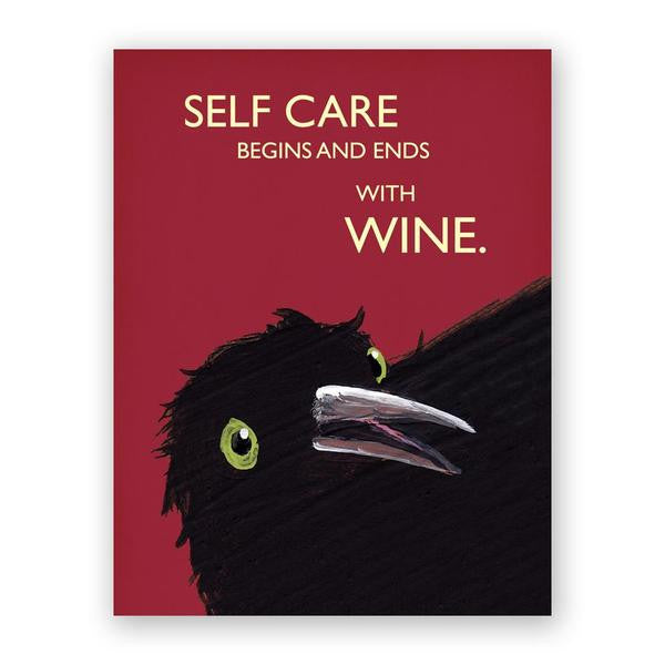 Self Care Begins and Ends With Wine Card