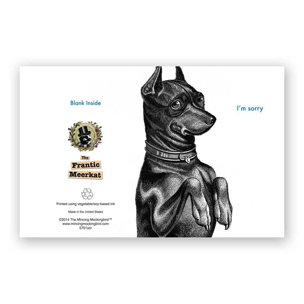 Doberman Sorry Card