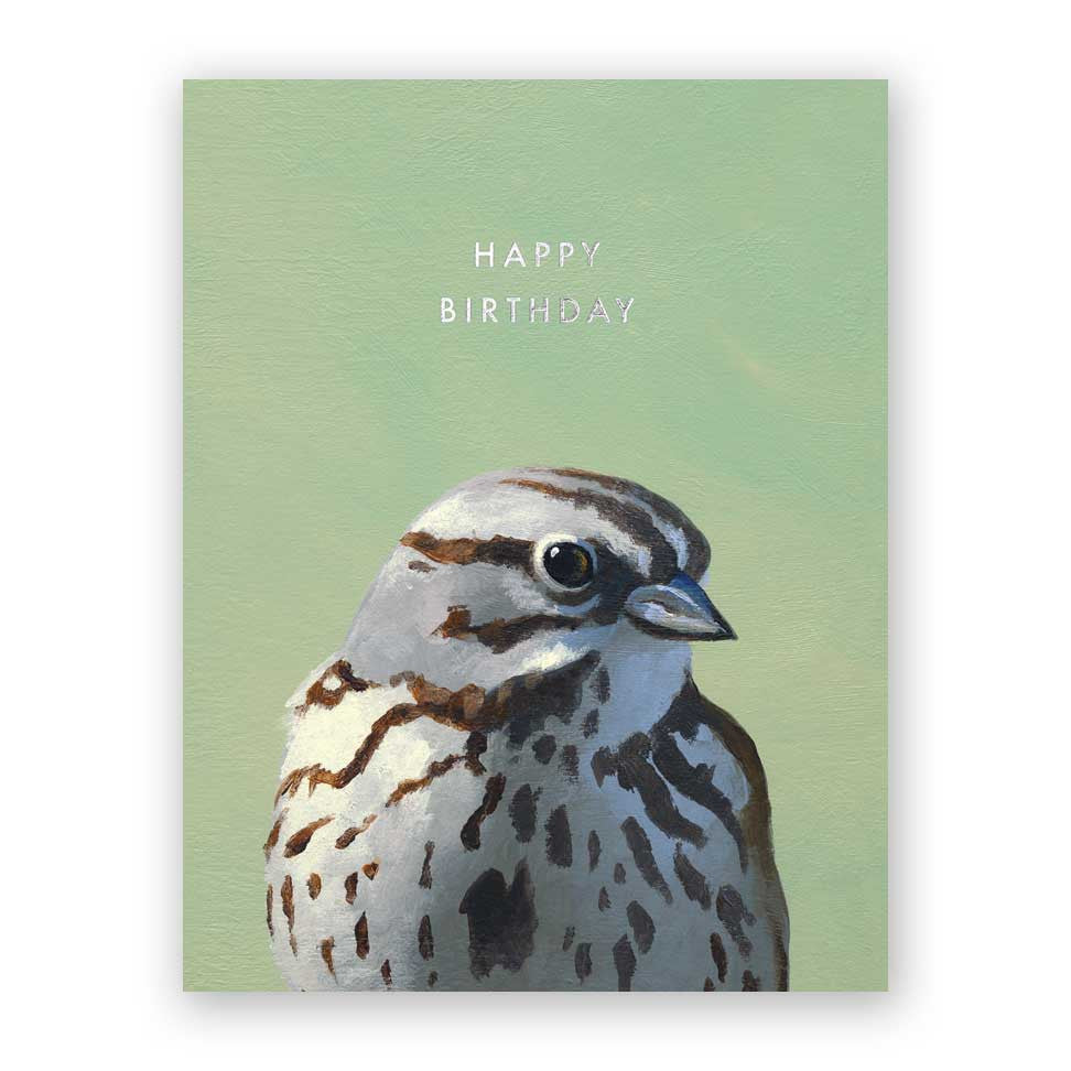 Sparrow Happy Birthday Card