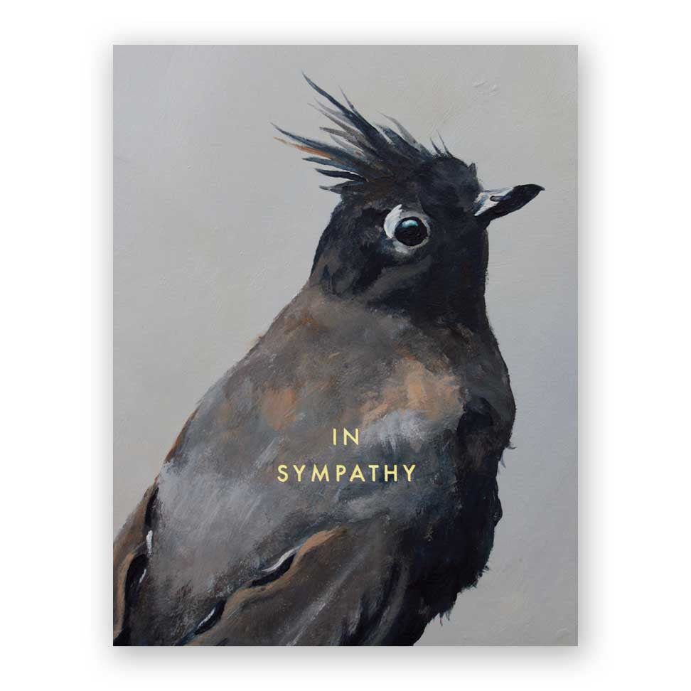 Black Bird In Sympathy Card