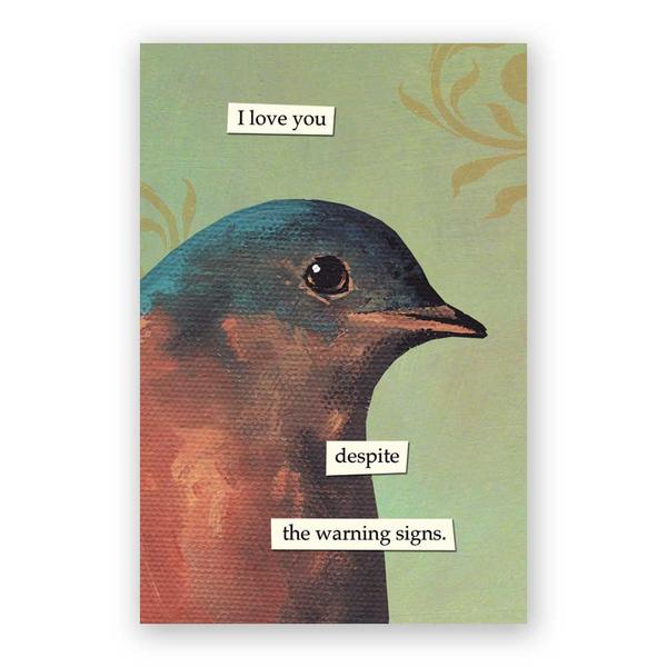 Warning Signs Postcards - Set of 12 - Troubled Birds