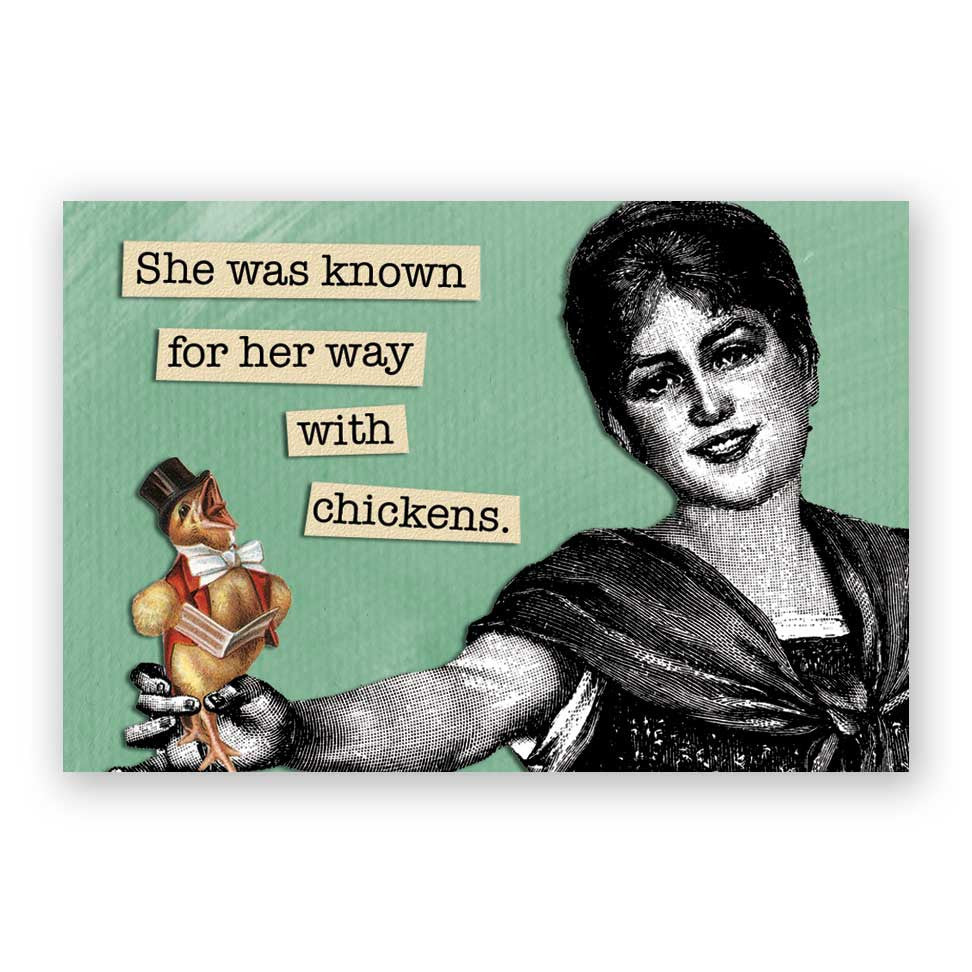 A Way with Chickens Magnet