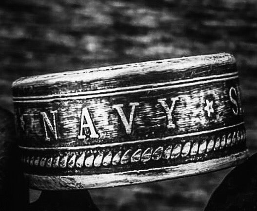 Silver Navy Coin-Ring