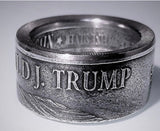 Donald Trump Silver Coin-Ring size 9-21