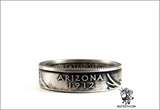 State Quarter Coin Ring 90% Silver Sz 4-12 Begins with A
