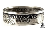 90%Silver State Quarter Coin Ring sz4-12 starts with C-D