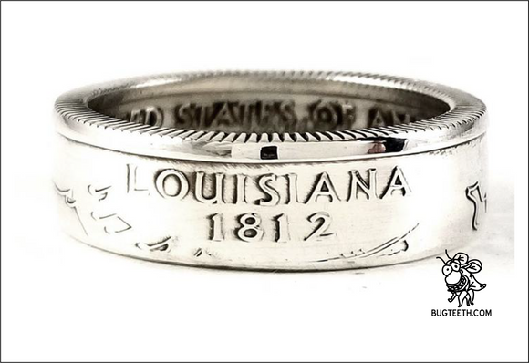 90% Silver State Quarter Coin Ring Sz 4-12 Begins with Ke-Ma