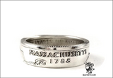 90% Silver State Quarter Coin Ring Sz 4-12 starts with Ma-Mi
