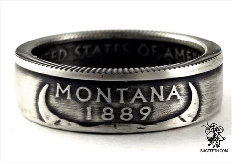 90% Silver State Quarter Coin Ring Sz 4-12 starts with Mi-Ne