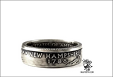 90% Silver State Quarter Coin Ring Sz 4-12 starts with Ne