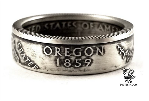 90%Silver State Quarter Coin Ring Sz 4-12 starts with Or-So