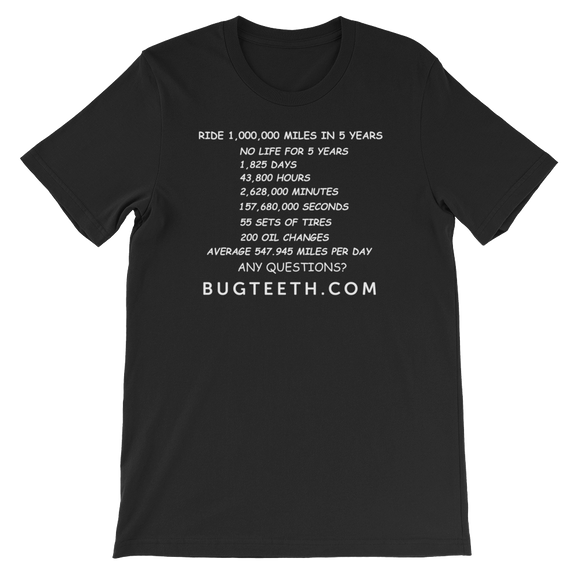 Bugteeth 1 Million Miles T-Shirt
