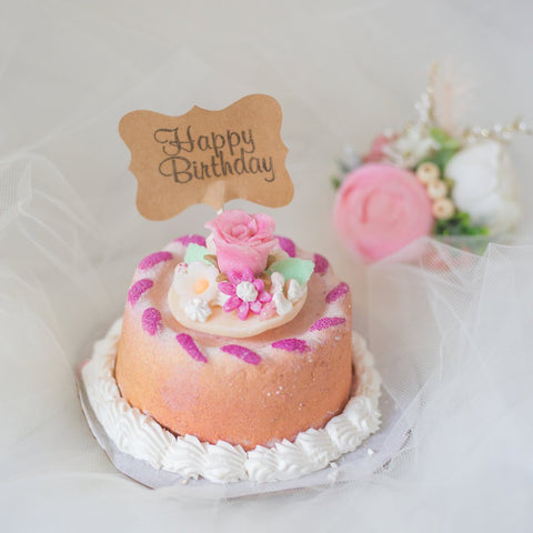 Made To Order Birthday Cake Bath Bombs They Feature Hand Sculpted Flowers