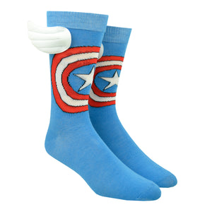 Men's Captain America Wing Socks