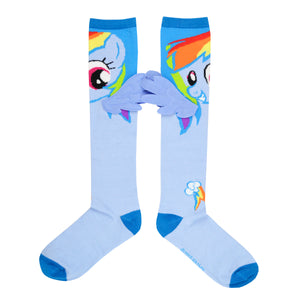 Women's Rainbow 3D Wings Knee High Socks