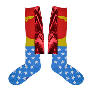 Women's Wonder Woman Shiny Knee High Socks