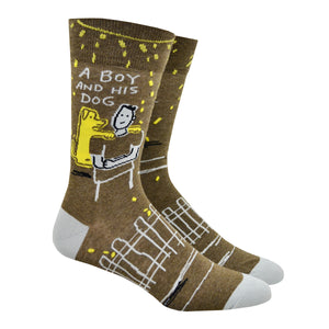 Men's A Boy And His Dog Socks