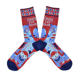 Men's Crazy Cat Dude Socks