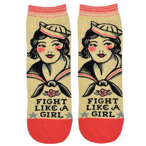 Women's Fight Like A Girl Ankle Socks