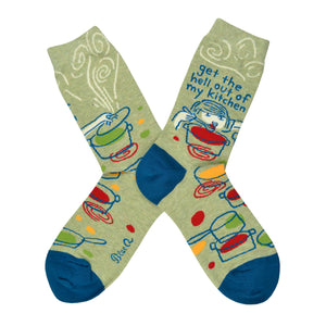 Women's Get The Hell Out Of My Kitchen Socks