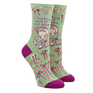 Women's I Fucking Love It Socks