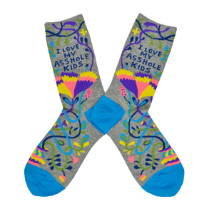 Women's I Love My Asshole Kids Socks
