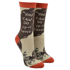 "Women's ""You Can Do It"" - Coffee Socks"