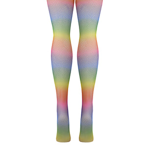 Women's Rainbow Fishnet Tights