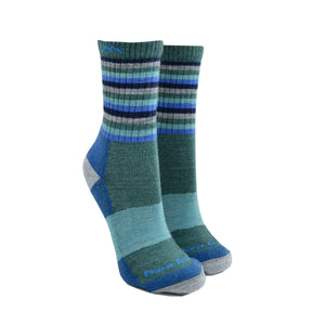 Women's Stripes Hiker Micro Crew Socks