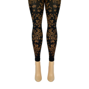 Women's Floral Microfiber Footless Tights