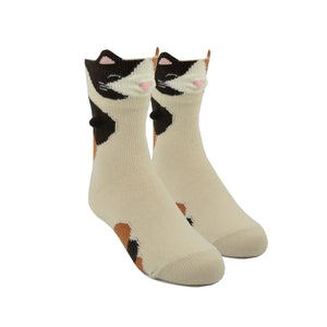 Kid's 3D Calico Cat Socks