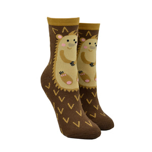 Women's Hedgehog Non-Skid Socks