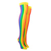 Women's Vertical Rainbow Over The Knee Socks