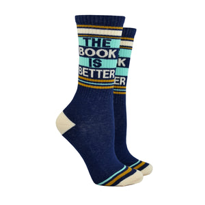 Unisex The Book is Better Socks