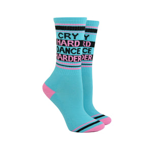 Unisex Cry Hard Dance Harder Socks