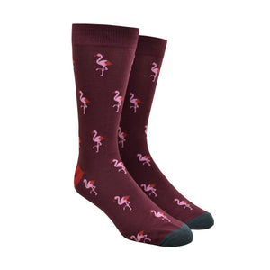 Men's King Size Flamingo Party Socks