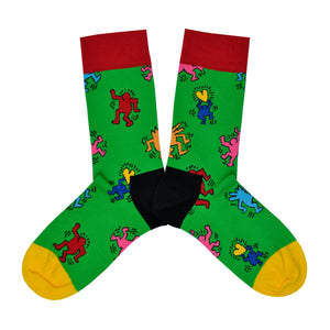 Unisex Green Keith Dancing Socks