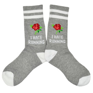 Women's I Hate Running Socks