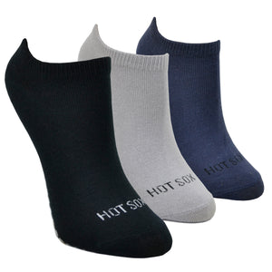 Women's Black and Grey 3-Pack Ankle Socks