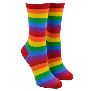 Women's Bold Stripe Rainbow Socks