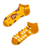 Unisex Mismatched Honey Bear Ankle Socks