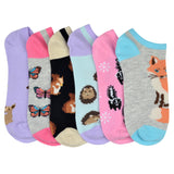 Women's Forest Creature 6-Pack Ankle Socks