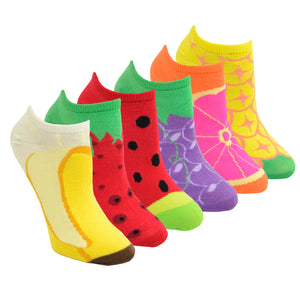 Women's Fruit 6-Pack Ankle Socks