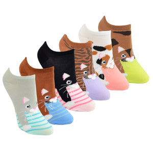 Women's Cats 6-Pack Ankle Socks