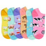 Women's Farm Animals 6-Pack Ankle Socks