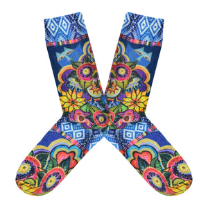 Women's Laurel Burch Cat With Flowers Socks