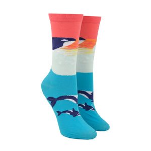 Women's Orca Whale Socks