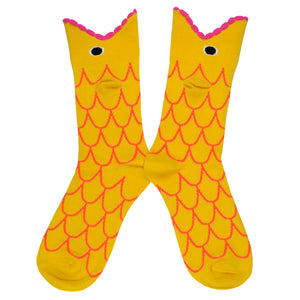 Women's Wide Mouth Goldfish Socks